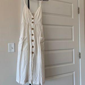 Urban Outfitters - linen button down midi dress